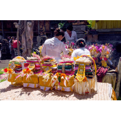 Offerings at Temple
