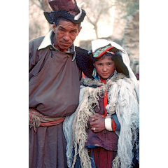 Tibetan Bride and Father