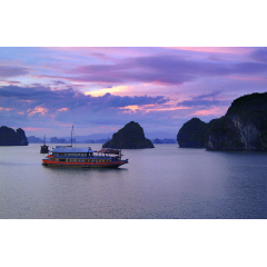 Blue Sunset at Halong Bay
